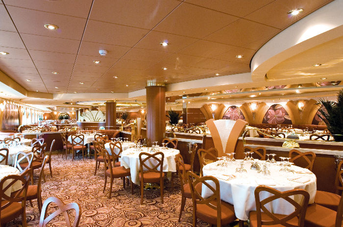 Restaurante a bordo del MSC Musica