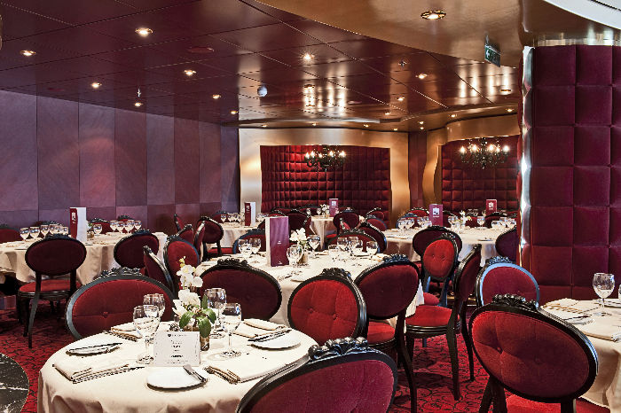 Restaurante Red Velvet en el MSC Fantasia