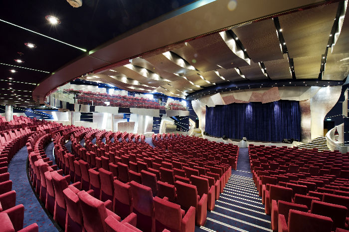 Teatro The Strand a bordo del MSC Splendida