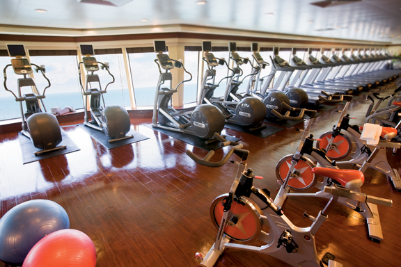 Fitness Center en el Norwegian Pearl