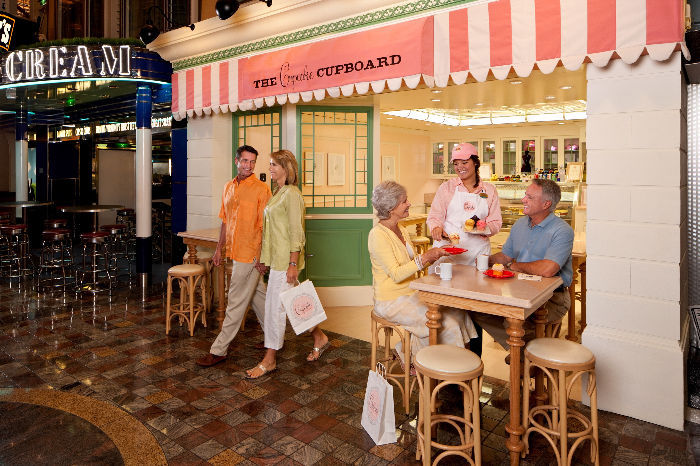 The Cupcake café en el Independence of the Seas