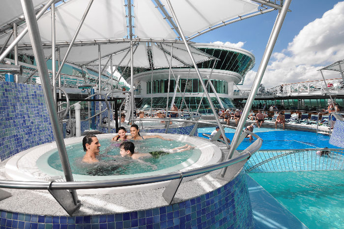 Jacuzzis en el Rhapsody of the Seas