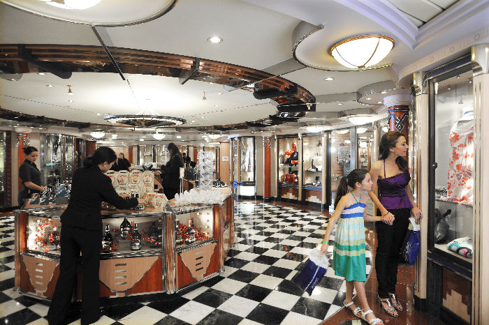 Tiendas a bordo del Rhapsody of the Seas