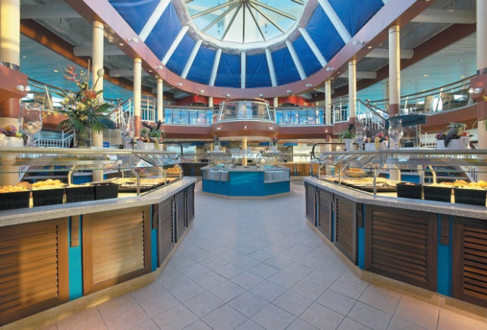 Windjammer Café en el Monarch of the Seas