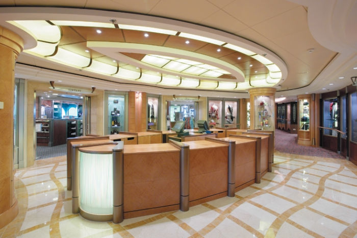 Tiendas en el Brilliance of the Seas
