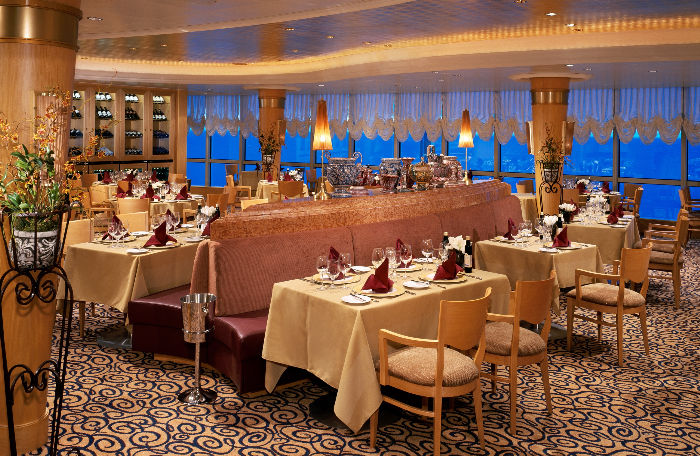 Restaurante a bordo del Brilliance of the Seas
