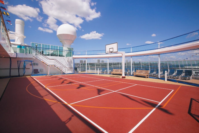 Pista polideportiva en el Brilliance of the Seas