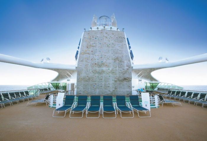 Pared de escalada a bordo del Jewel of the Seas