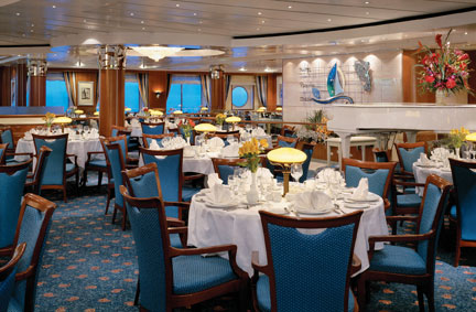 Crossings Restaurant en el Norwegian Sky