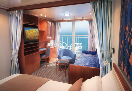 Vista de una Mini Suite en el Norwegian Sun