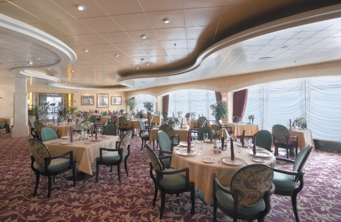 Restaurante Portofino en el Adventure of the Seas