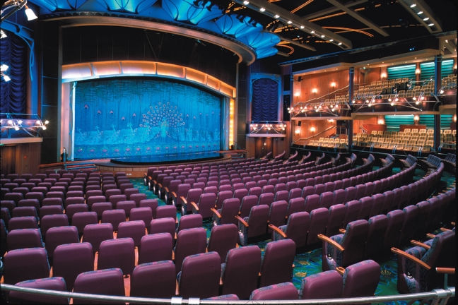 El impresionante teatro del Adventure of the Seas
