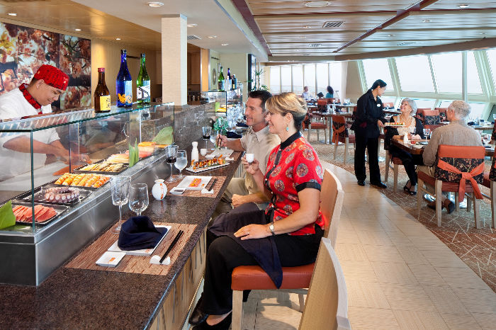 Restaurantes variados a bordo del Independence of the Seas