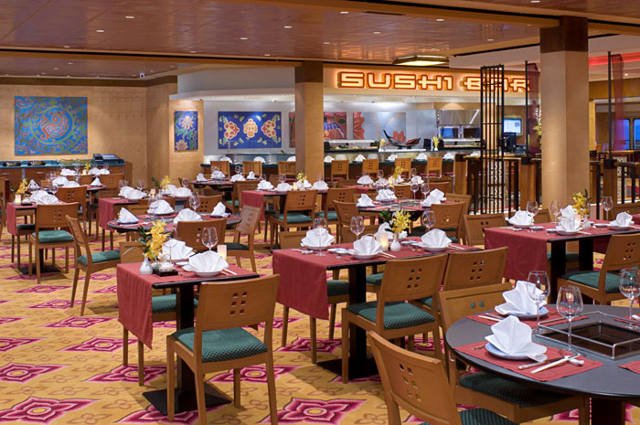 Restaurante asiático en el Norwegian Jewel
