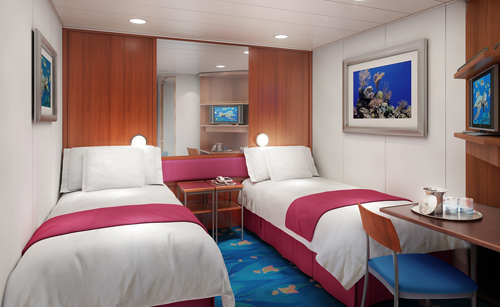 Camarote interior en el Norwegian Jewel