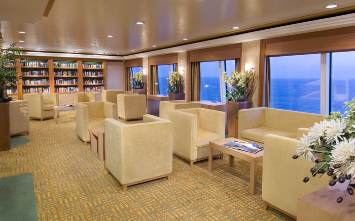 Biblioteca en el Norwegian Jewel